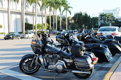 Harleys at Miami Beach Royalty Free Stock Photo