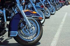 Harleys op een rij Royalty-vrije Stock Afbeelding