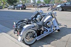 Harleys und ein Zerhacker Lizenzfreie Stockbilder