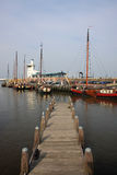 Harlingen harbour Stock Photography