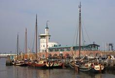 Harlingen Harbour. Traditional boats in Harlingen Harbour Royalty Free Stock Photos