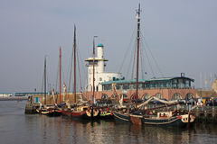 Harlingen harbour Stock Image