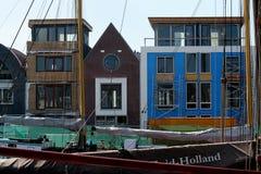 Harlingen. Netherlands, Harlingen,-june 2016: Modern architecture at the Zuiderhaven Royalty Free Stock Photo