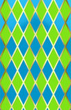 Harliquin azul/verde w/gold Imagem de Stock