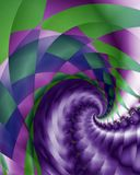 Harlquin and braid swirl. Abstract fractal swirl image with a harlequin and braided pattern Royalty Free Stock Photography