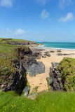 Harlyn Bay Cornwall England UK near Padstow and Newquay Royalty Free Stock Images