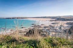 Harlyn bay Cornwall england uk. Stock Images