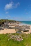Harlyn Bay North Cornwall England UK near Padstow and Newquay Royalty Free Stock Photo