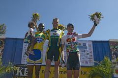 Harm Jansen receiving trophy Royalty Free Stock Image
