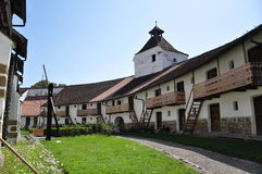 Harman fortified church Royalty Free Stock Images
