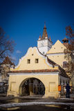 Harman Fortified Church. Located in the heart of Harman (Honigburg in German, meaning Honey Castle) village, this fortified church dates back to the 13th century Royalty Free Stock Image