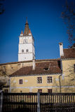 Harman Fortified Church. Located in the heart of Harman (Honigburg in German, meaning Honey Castle) village, this fortified church dates back to the 13th century Royalty Free Stock Photo