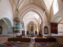 Harman fortified Saxon Church interior Royalty Free Stock Image