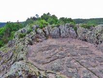 Harman Kaia, montagnes de Rhodope, Bulgarie Photos stock