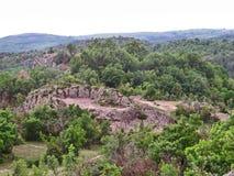 Harman Kaia, sanctuaire de Thracian, montagnes de Rhodope, Bulgarie Photographie stock