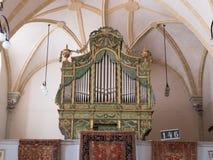 Harman, Romania, July 2017: Harman fortified Church organ Stock Photo