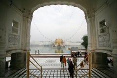 Harmandir Sahib, ¼ dorato Amritsar di Templeï Immagine Stock