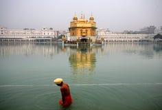 Harmandir Sahib, ¼ dorato Amritsar di Templeï Fotografia Stock Libera da Diritti