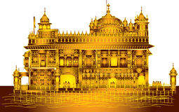 Harmandir Sahib: Gouden Tempel Rd, Amritsar, Punjab Royalty-vrije Stock Foto