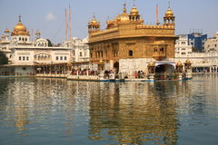 Harmandir Sahib (tempio dorato) Immagini Stock Libere da Diritti