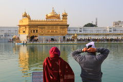 Harmandir Sahib (templo de oro) Fotos de archivo libres de regalías