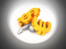 Harmed by economy Stock Photography