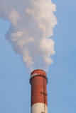 Harmful emissions into the atmosphere, an environmental problem Royalty Free Stock Image