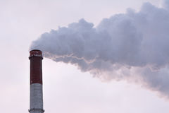 Harmful emissions into the atmosphere, an environmental problem Royalty Free Stock Photos