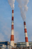 Harmful emissions into the atmosphere, an environmental problem Stock Image