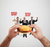 Harmful fast foods Stock Photos