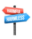 Harmful, harmless road sign Stock Photos