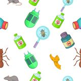 Harmful insects pattern, cartoon style Royalty Free Stock Photos