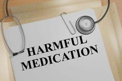 Harmful Medication concept Stock Photos