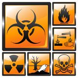 Harmful signs shiny Stock Image