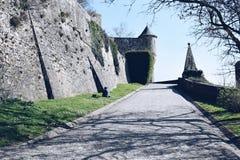 Harmonia czas w Mont saint michel, Francja 2017 Marzec fotografia royalty free