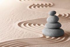 Harmonia da simplicidade do jardim da meditação do zen Imagem de Stock