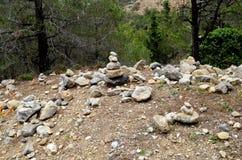 Harmonia das pedras Acalma um homem imagens de stock