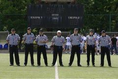 Harmonia de futebol americano entre lobos e o dragão azul Fotos de Stock Royalty Free
