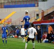Harmonia de futebol entre Itália e EIRE Under-21 foto de stock