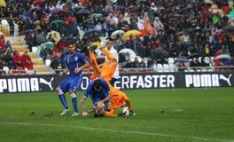 Harmonia de futebol entre Itália e EIRE Under-21 imagem de stock royalty free
