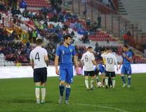 Harmonia de futebol entre Itália e EIRE Under-21 imagem de stock