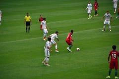 Harmonia de futebol entre Portugal e México Moscou no 2 de junho de 2017 Imagem de Stock Royalty Free