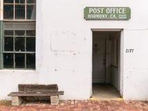 Harmonia, Kalifornia urząd pocztowy Zdjęcie Royalty Free