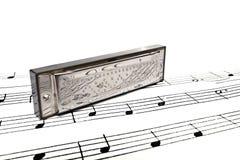 Harmonic. On a score background Royalty Free Stock Photo