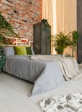 Harmonic bed zone. In ecological, modern studio royalty free stock images