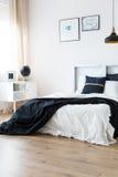 Harmonic minimal bedroom. In modern scandi style stock photo