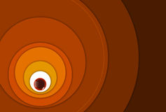 Harmonic round circles growing outward Stock Photo