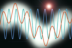 Harmonic waves diagram Stock Image