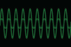 Harmonic waves diagram Stock Images