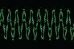 Harmonic waves diagram Stock Images